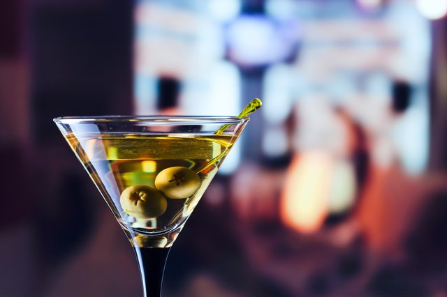 Italian martini and green olives