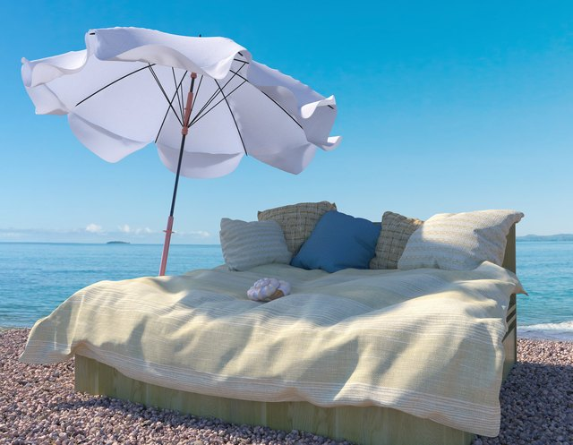 vacation  background with interior elements and seashell