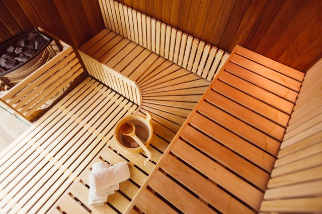 Wooden steam room