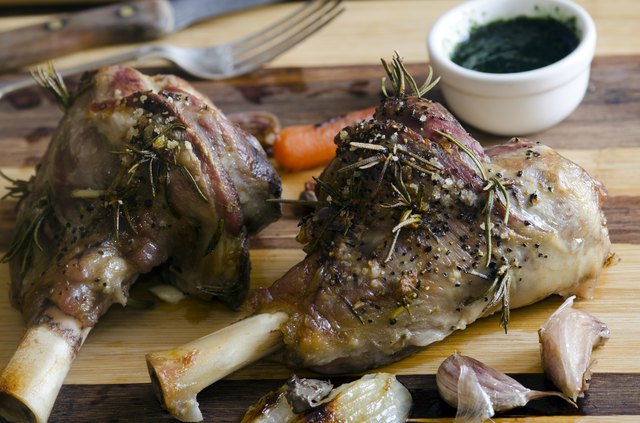 Roast legs of lamb