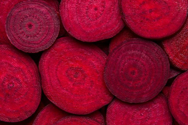 Beetroot slice closeup.