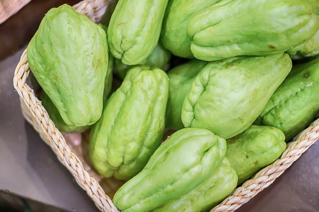 Fresh natural and organic of chayote fruits