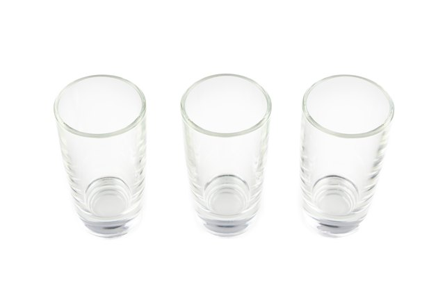 Photo of three empty glasses
