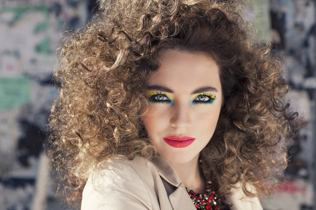 Young beautiful model with bright make-up.