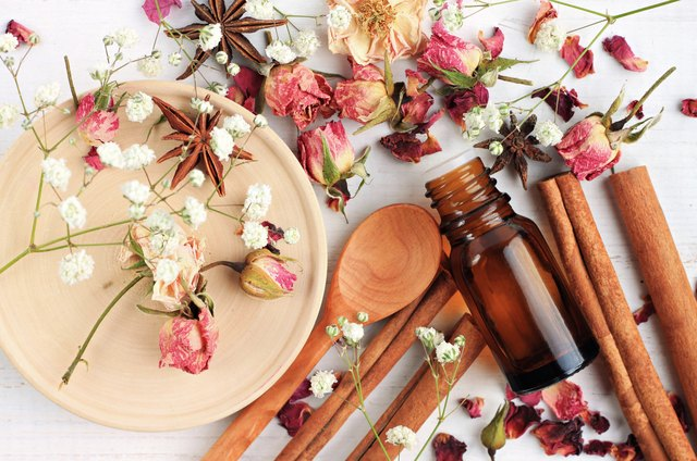 Essential oil blend of rose, cinnamon, anise