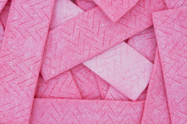 Pink Bubble Gum Background