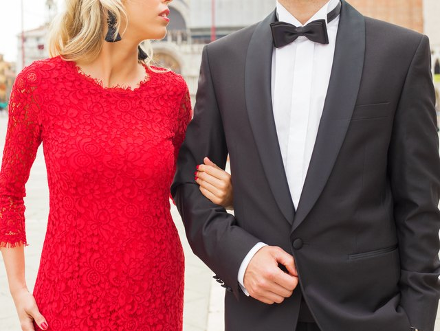 elegantly dressed couple