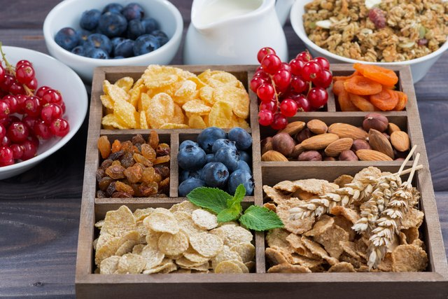High fiber ingredients in a wooden box