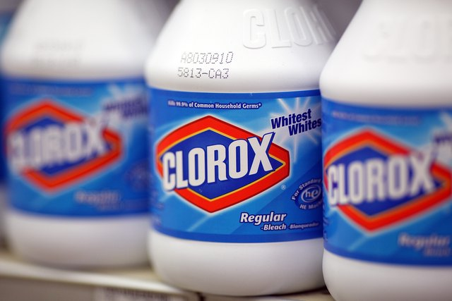 Clorox bottles on grocery shelf