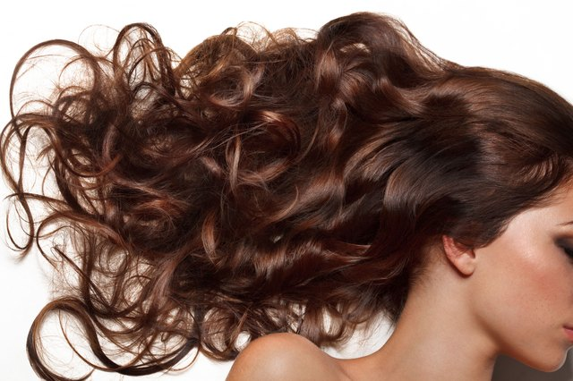 Woman with beautiful glossy hair