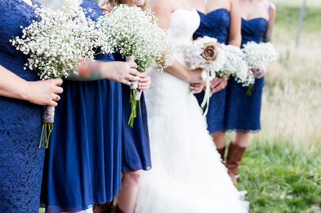 Bridesmaids and bride at a wedding