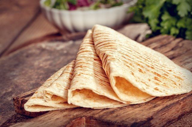 Stack of Homemade Mexican Tortillas