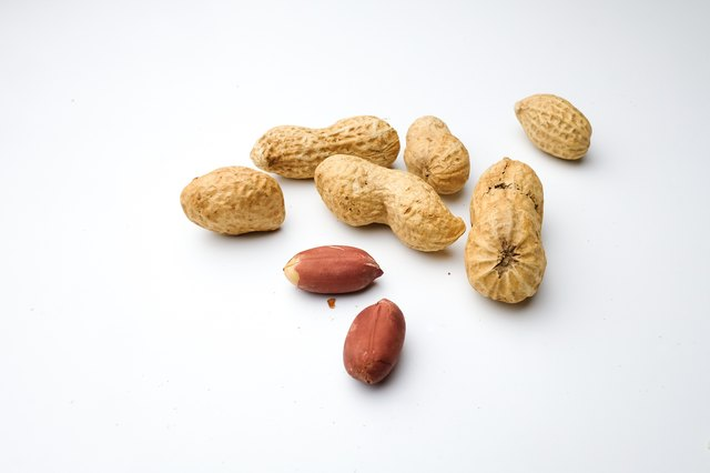 Peanuts, isolated on a white background