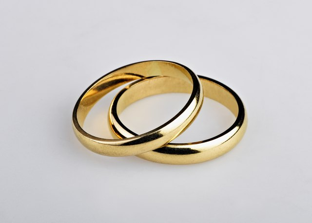 Polished Gold Wedding Rings