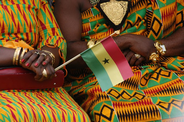 Women in Ghana celebrate independence day