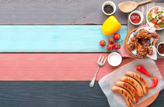 Barbecue meal background
