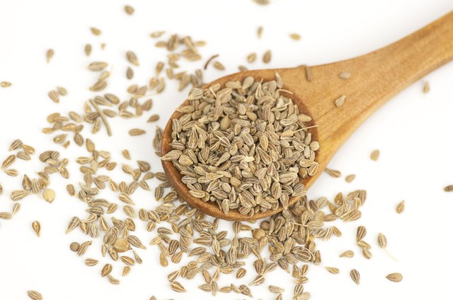 Anise seeds on white