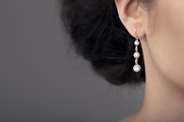 Close up Detail of a Beautiful Earring