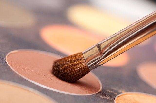Eye shadow and brush