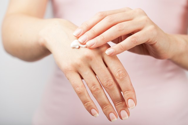 woman's hands with cream