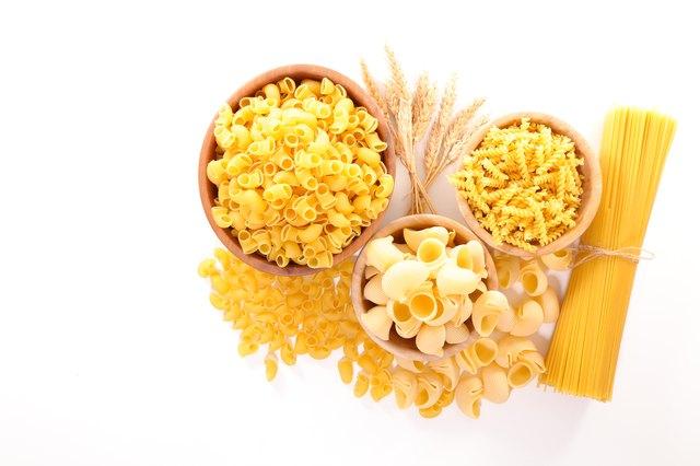 assorted raw pasta