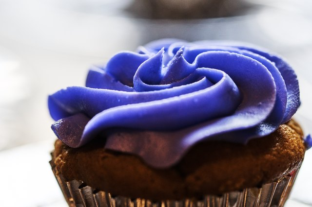 Purple Cupcake frosted