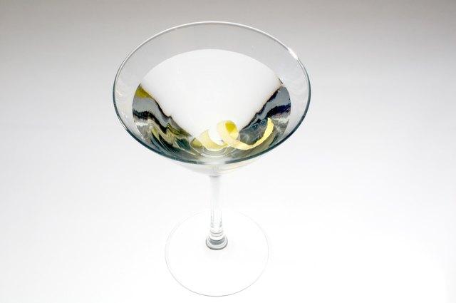 Martini with lemon twist