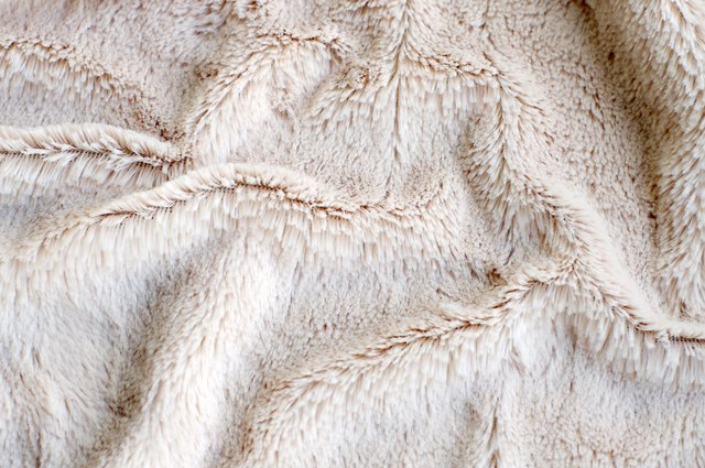 close up of faux fur