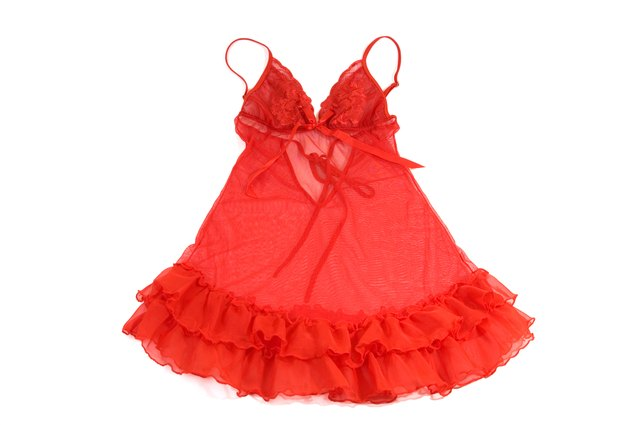Red babydoll dress on white background