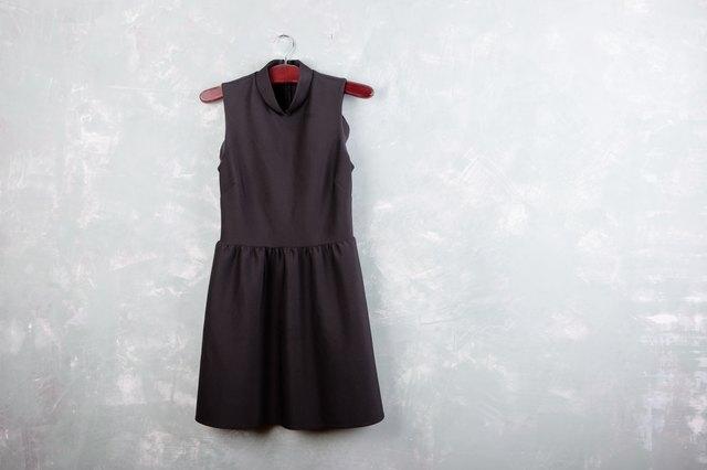 Classic little black ladies dress on a hanger