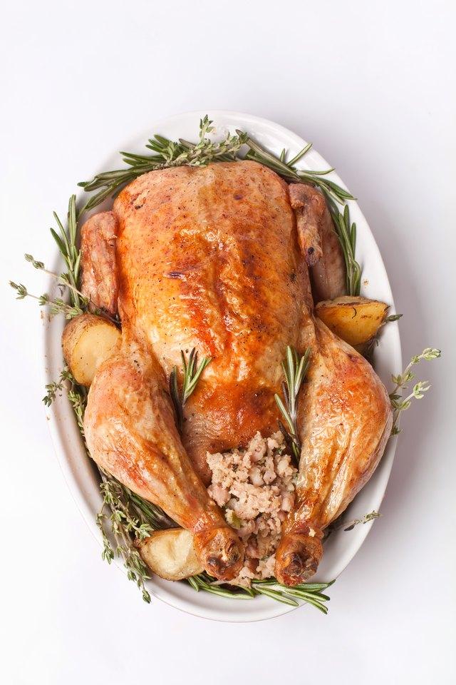 whole stuffed roast turkey