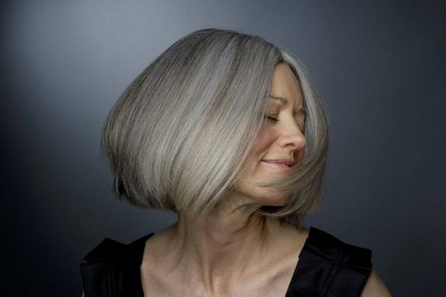 coloring grey hair around the face