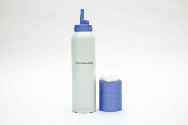 Hair mousse cylinder bottle