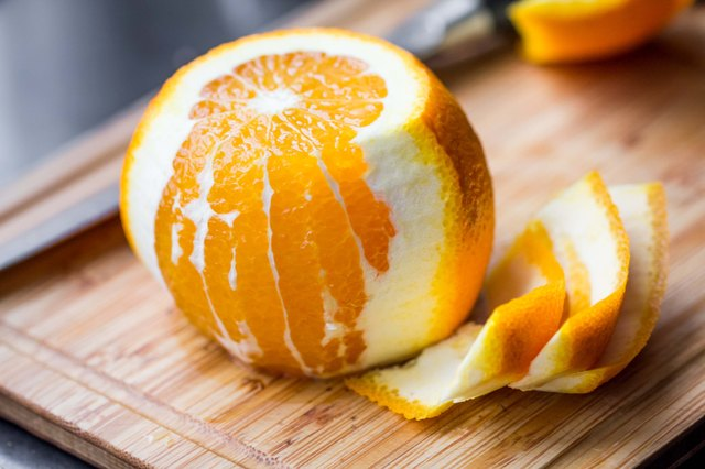 Cleared of peel orange