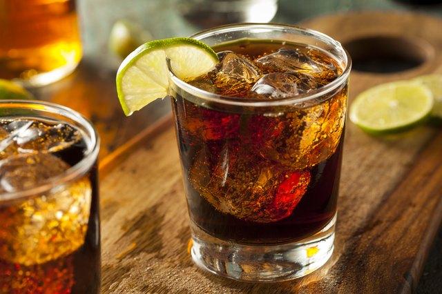 Captain Morgan Rum and Cola
