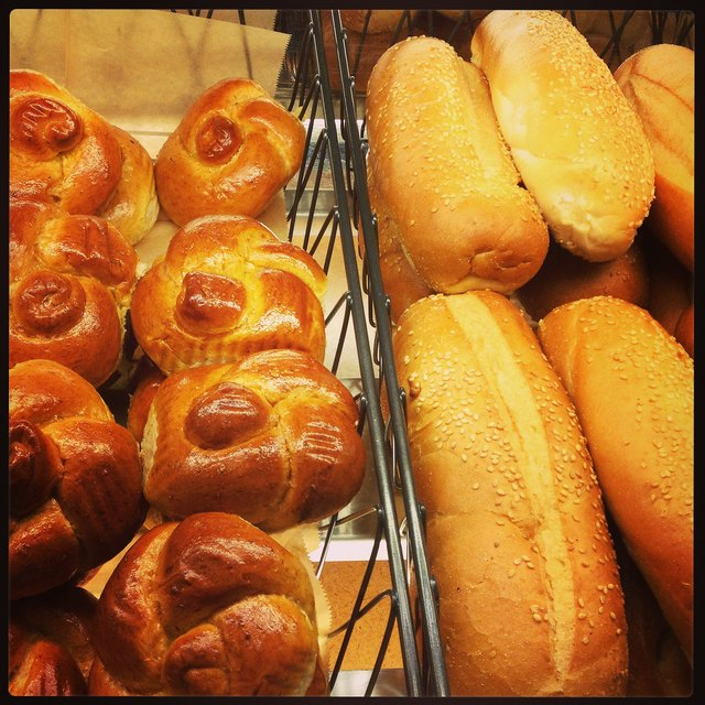 Brioche Rolls and Sesame Baguettes Close-Up