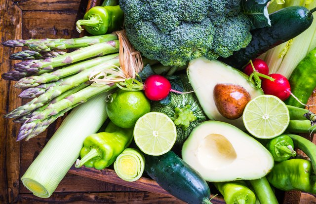 Mix vegetables on rustic background.