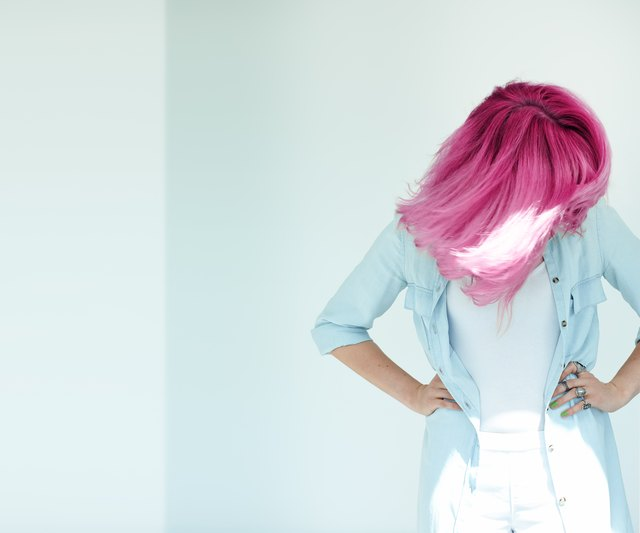 Motion Shot Of Dyed Hair