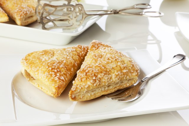 Turnover pastry on a plate