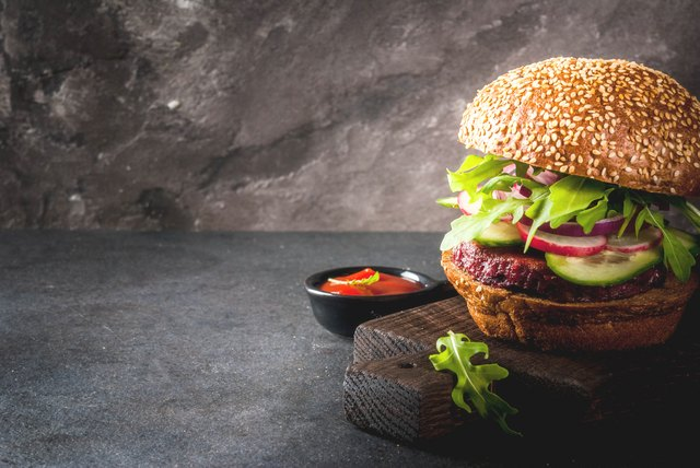 Healthy vegan burgers