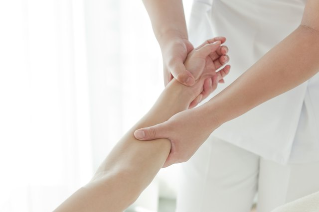 Acupressure wrist massage