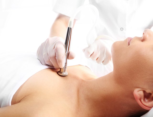 Woman at the beautician, microdermabrasion