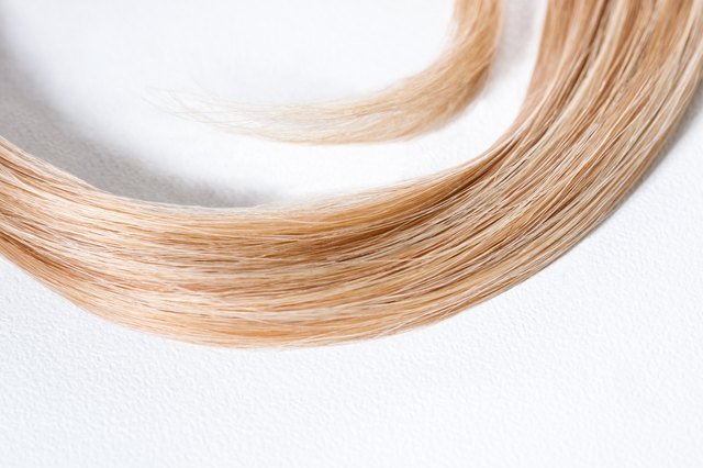 Long Blond Curled Strands