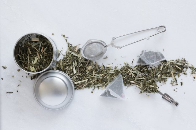 Tea Utensils And Tea Leaves