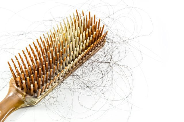 Hair loss on a brush