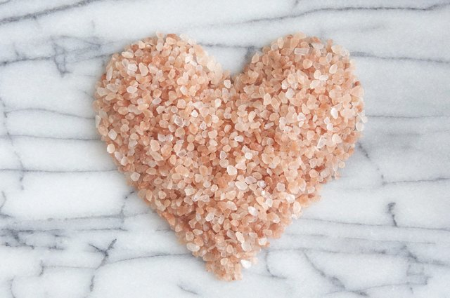 Pink Himalayan Rock Salt Heart