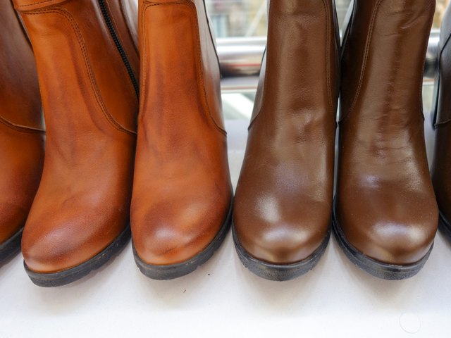 Female, brown, Shoe Boots,