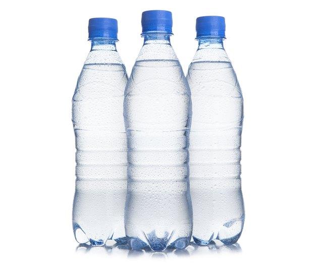 Three plastic bottle of drinking water