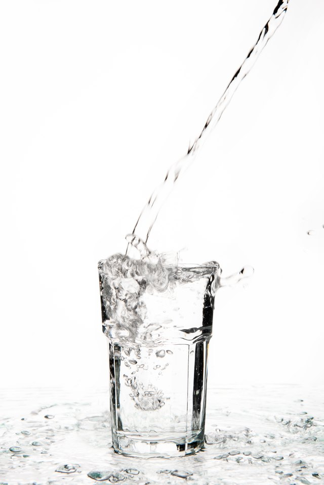 glass of water overflowing