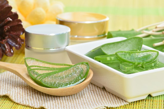 Prepared aloe vera use in spa for skincare and cosmetic